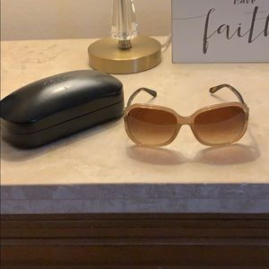 NWT Coach Milky Light Brown Sunglasses